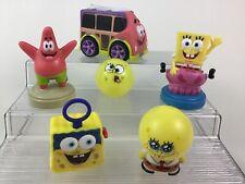 Spongebob Squarepants Toy Figures Lot 6pc Stamps Patrick Car Ball Figure Viacom