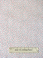 Patriotic Red Blue Scattered Dot Cotton Fabric #17769-011 Basically Yours YARD