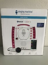 SML343BTP Portable Karaoke Machines CDG + Bluetooth System With LED Disco Lights