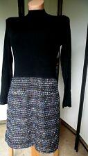 C.M. Strickkleid/Kleid von Lipsy, schwarz/bunt, Gr. 44 (°209)