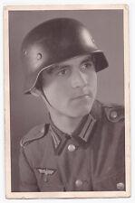 Original Photo Portrait Ak Landser with Steel Helmet
