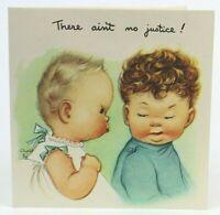 CHARLOT BYJ Vintage Cute Kids Babies Birthday Greeting Card w/Envelope, Unused