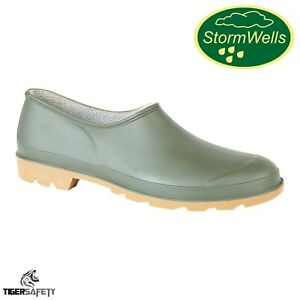 Stormwells U271 Green Unisex Comfy Waterproof Garden Welly Shoes Gardening Clogs