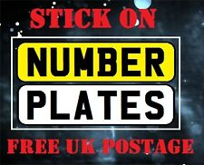 NUMBER PLATE-VEHICLE-STICK ON-SELF ADHESIVE-CARAVAN-TRAILER-MOTOR CAR- CYCLE