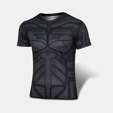 Gym Fitness Exercise Bodybuilding Compression Stretchable Medium T Shirt Batman