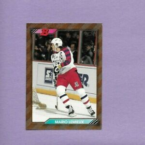 Mario Lemieux Penguins CTR NHL 1992-93 Bowman Foil Hockey Card Single Original