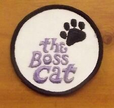 """Vintage New Old Stock """"The Boss Cat"""" Round Patch"""