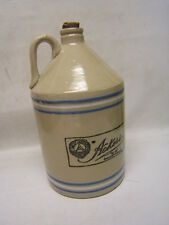 Finley Acker Co. Stoneware Jug Antique 19th Century Philadelphia