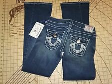 WOMENS/GIRLS SIZE 26 TRUE RELIGION  PRE-STRESSED/WASHED JEANS - NWT