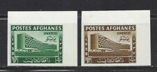 AFGHANISTAN - 464 - 465 - IMPERF & PERF - MLH/MNH - 1958 - UNESCO HQ, PARIS