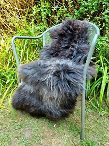 XXXL British Jacobs Brown Sheepskin Rug - 115cm by 65cm A++ (2705)