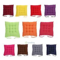 NEW COLOURFUL SEAT PAD DINING ROOM GARDEN HOME KITCHEN CHAIR CUSHION WITH TIE ON