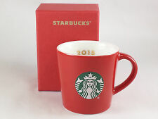 Starbucks Mug 3oz. Espresso 2015 Red Collectable Mini Coffee Cup