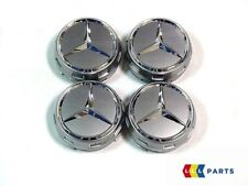 NUOVO Originale Mercedes MB AMG 75 mm argento surround centrale Ruota HUB Tappo Set 4PCS