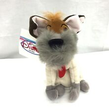 """Retired Disney Store Oliver and Company Dodger Mini Bean Bag 7"""" New"""