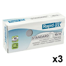 3 x Box of Rapid Standard No. 10/4 3000 Staples