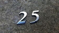 ROVER 25 BOOT TAILGATE 25 NUMBERS BADGE EMBLEM