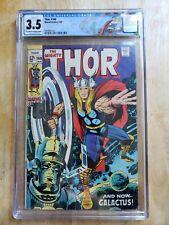 The Mighty Thor 160 CGC 3.5 Galactus & Ego battle Jack Kirby custom label
