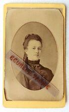 CDV PHOTO nommé PIERRINE HERZOG Mme ABEILLE rue Paradis MARSEILLE 1888 E499