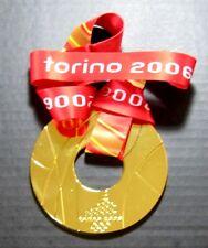 2006 TORINO WINTER OLYMPICS GOLD MEDAL WITH SILK RIBBON