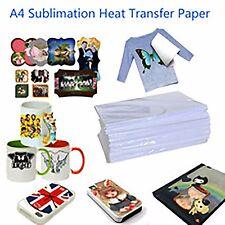 100Pcs A4 Heat Transfer T-Shirt Laser/Inkjet Iron-On Paper For /Light Fabric