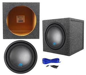 """Alpine S-W12D2 12"""" 1800w Car Audio Subwoofer+Sealed Sub Box Enclosure SW12D2"""