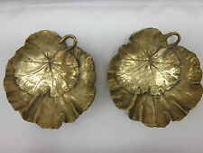 Geranium by Cambron Brass Dish - set of 2