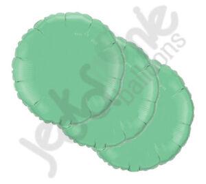 """3pc 18"""" Solid Wintergreen Round Balloon Wedding Baby Bridal Shower Birthday Mint"""