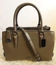 COACH 56839 BROOKLYN 28 CARRYALL, NWT!! *MSRP $495* FATIGUE OLIVE GUNMETAL