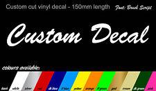 2x Pinceau Script style personnalisé nom autocollants-Vélo Voiture Van Camion 150mm