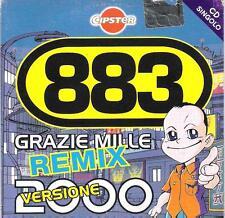 """883 MAX PEZZALI - RARO CDs PROMO CIPSTER """" GRAZIE MILLE REMIX VERSIONE 2000 """""""