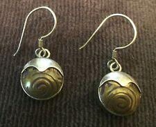 Sterling Silver Beautiful Earrings Mokume Gane (I think) for Pierced Ears Metals