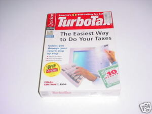 Turbotax 1996 Basic.  New retail box. Turbo tax 96.