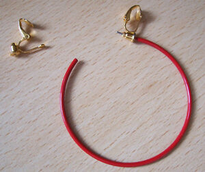 2  PAIRS GOLDTONE PIERCED POST TO CLIP-ON EARRINGS CONVERTERS FINDINGS