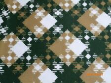 Tissu 160 cm x 125 cm vintage acrylique à carreaux vert