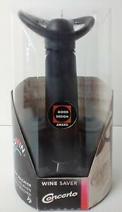 Vacuvin Concerto Wine Saver Vacuum Pump with Two Wine Stoppers