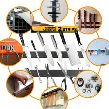 """New listing 2 Pack Adhesive Magnetic Strip For Knives & Tools - Home, Kitchen, Garage 12"""" in"""