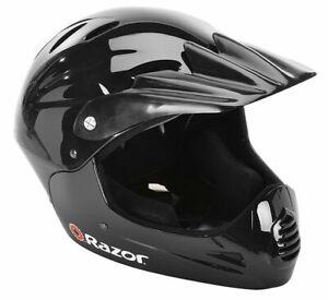 Razor Full Face Multi-Sport Youth Helmet Glossy Black NO TAGS