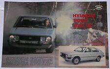 Test Drive Prova 1982 HYUNDAI PONY 1200 GL