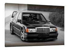 Mercedes 190e Cosworth - 30x20 Inch Canvas - Framed Picture Print Classic Car