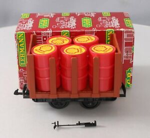 LGB 4045 Flat Car with Barrels/Box