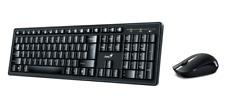 GENIUS SMART KM-8200 Wireless Combo Keyboard English Hebrew Optical Mouse USB