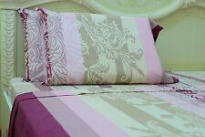 Goza Cotton 190 Gram Heavyweight Flannel Sheet Set - Queen - Damask