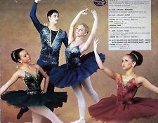 NEW Gold Tinted Velvet Ballet Costume Short Classic tutu 3 colors nude inset