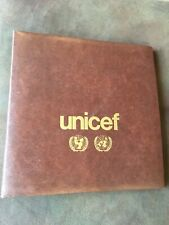 Unicef 1980 FDC Album with sheets of corresponding stamps