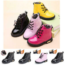 Boys Girls Kids Ankle Boots Winter Shoes Warm Chelsea Fur Lined School Boot Size