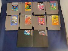 Nintendo NES Lot of 10 Games Open Defender Crown Stooges Caveman Double Dribble!