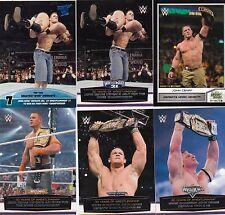 TOPPS WWE FROM WEST NEWBURY MA 6 JOHN CENA WRESTLING CARDS JBL ON 2 OF THEM