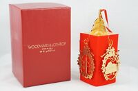 Vintage Woodward and Lothrop Washington DC Gold Finish Christmas Ornament IOB