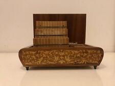 Vintage Swiss Music Box + Cigarette Case Holder (Mad Men / Don Draper Style)